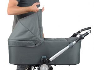 Bumbleride single stroller bassinet in grey