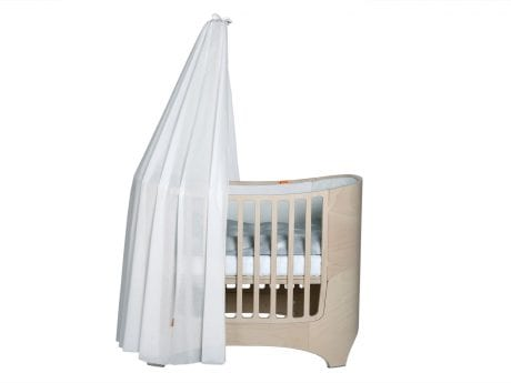 Whitewash Leander cot with white canopy