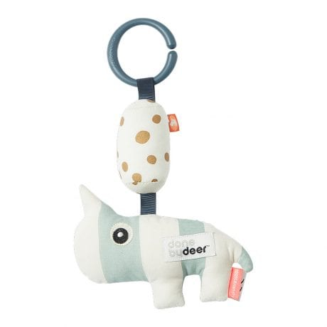 soft animal baby rattle with ring for attaching