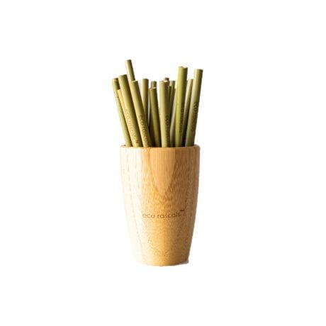 eco rascals organic bamboo cup with bamboo straws