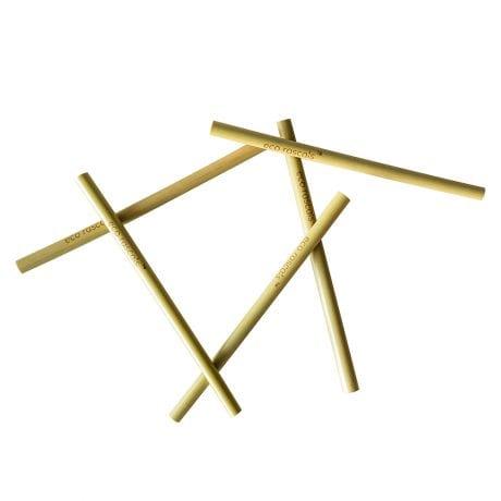 Eco rascals organic bamboo straws creating a pattern